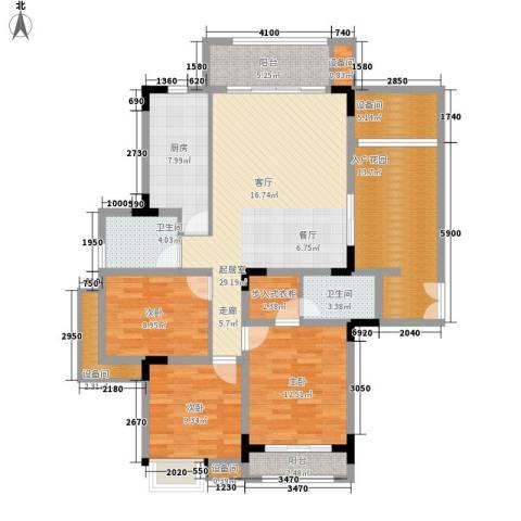 新贵华城3室0厅2卫1厨156.00㎡户型图