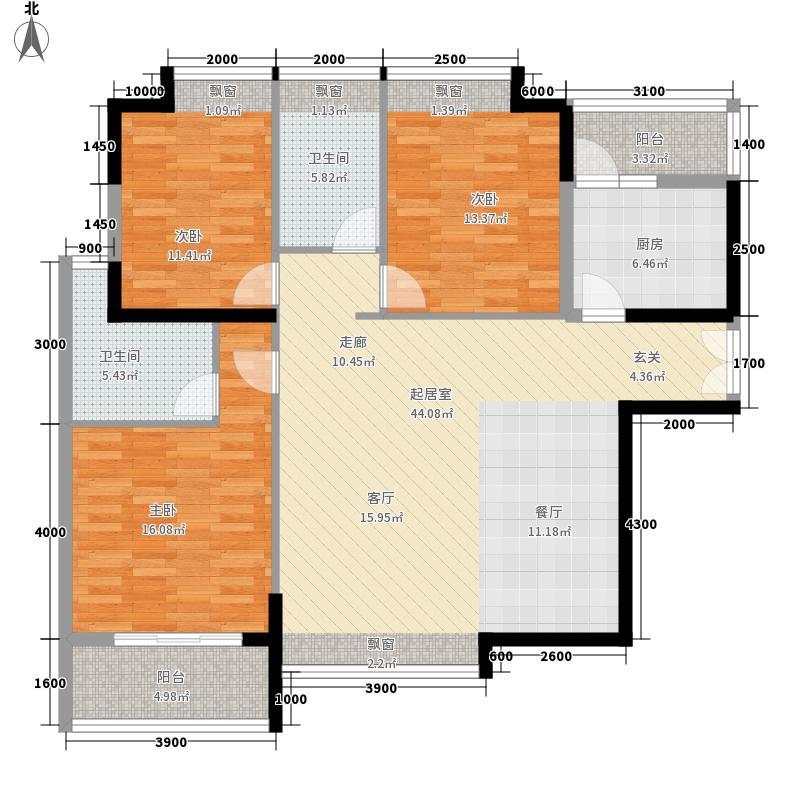 丰源官邸139.89㎡F面积13989m户型
