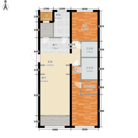 伊泰CEO国际中心2室0厅2卫1厨136.00㎡户型图