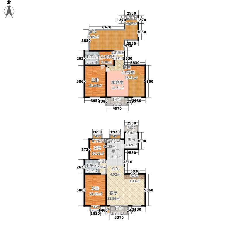 文苑凤凰城270.00㎡2号楼C4跃层面积27000m户型