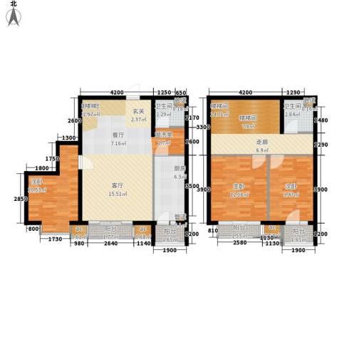 海光苑3室0厅2卫1厨141.00㎡户型图