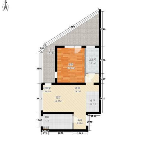 伊泰CEO国际中心1室0厅1卫1厨78.00㎡户型图