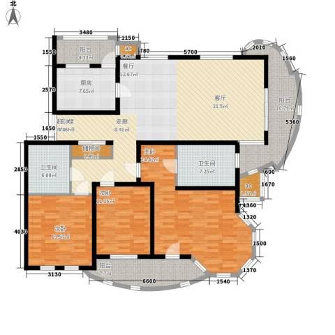 城市经典四期高迪3室0厅2卫1厨163.00㎡户型图