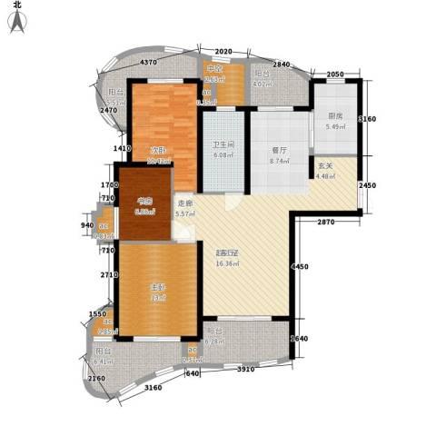 城市经典四期高迪3室0厅1卫1厨121.00㎡户型图