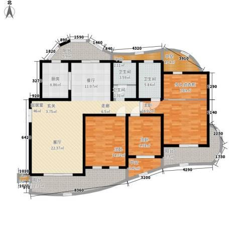 城市经典四期高迪3室0厅2卫1厨168.00㎡户型图
