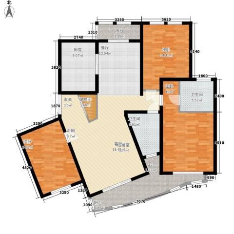 城市经典四期高迪3室0厅2卫1厨144.00㎡户型图
