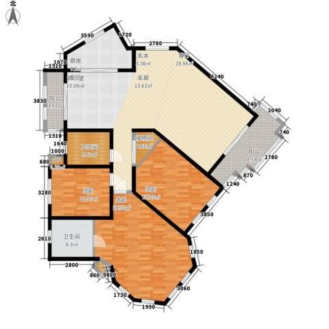 城市经典四期高迪3室0厅2卫1厨164.62㎡户型图