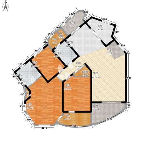 城市经典四期高迪3室0厅2卫1厨165.19㎡户型图