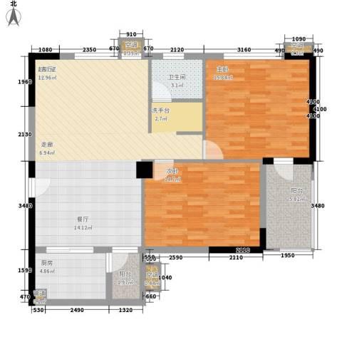 青和君临国际2室0厅1卫1厨94.00㎡户型图