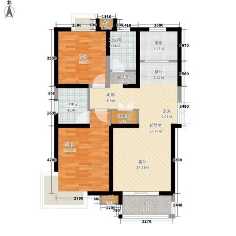 西市佳园2室0厅2卫1厨104.00㎡户型图