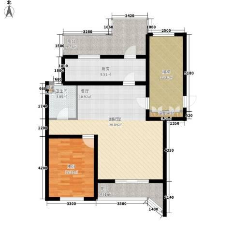 燕宇艺术家园1室0厅1卫1厨119.00㎡户型图