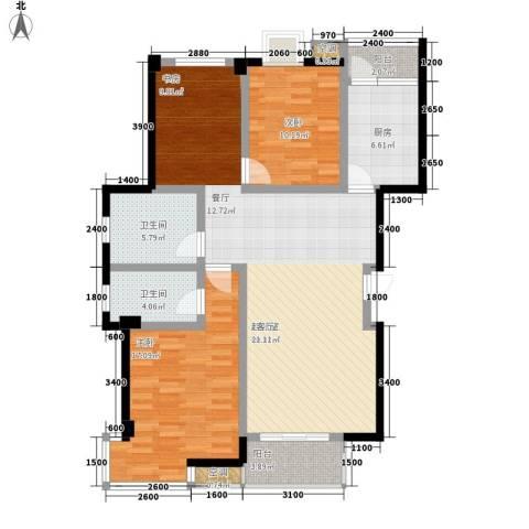 怡景.聚贤庭2室0厅2卫1厨133.00㎡户型图