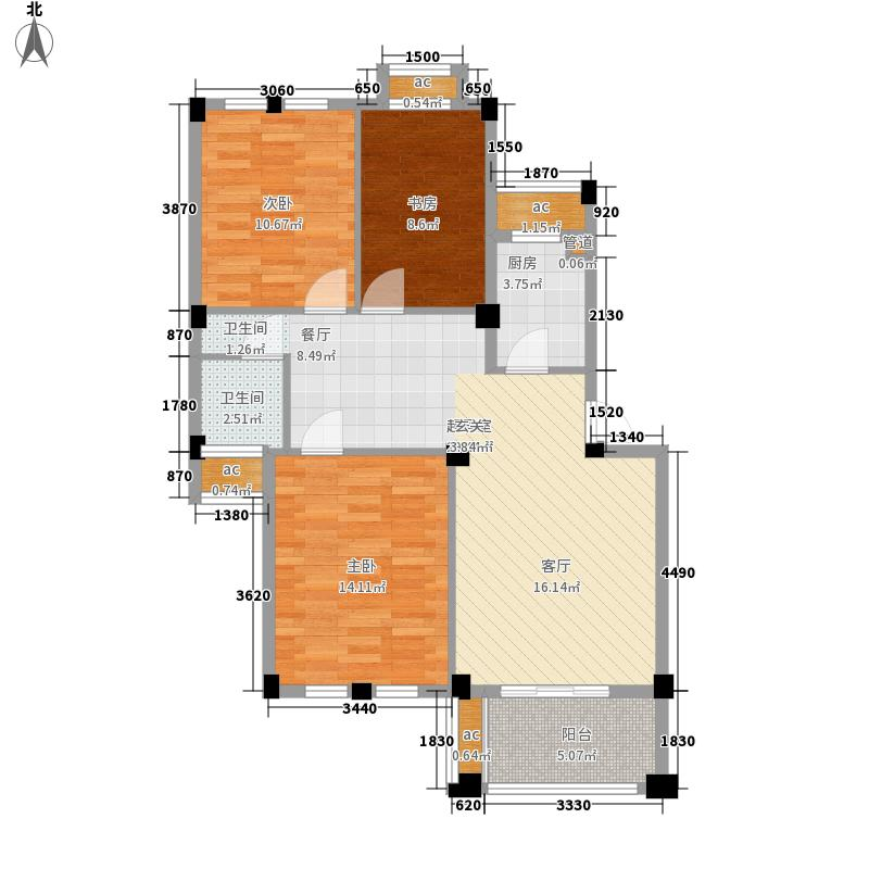香树湾90.00㎡F户型3室2厅
