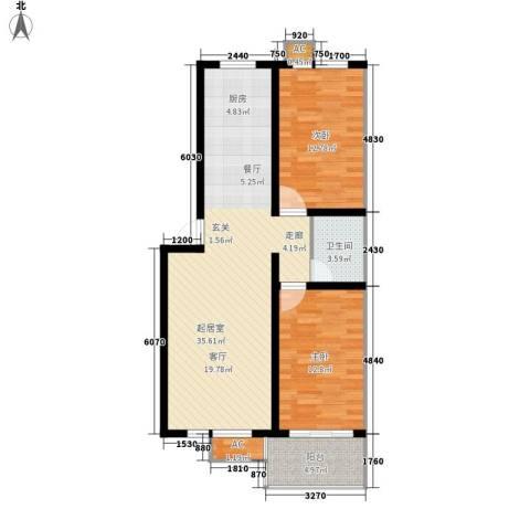 开元小区2室0厅1卫0厨101.00㎡户型图
