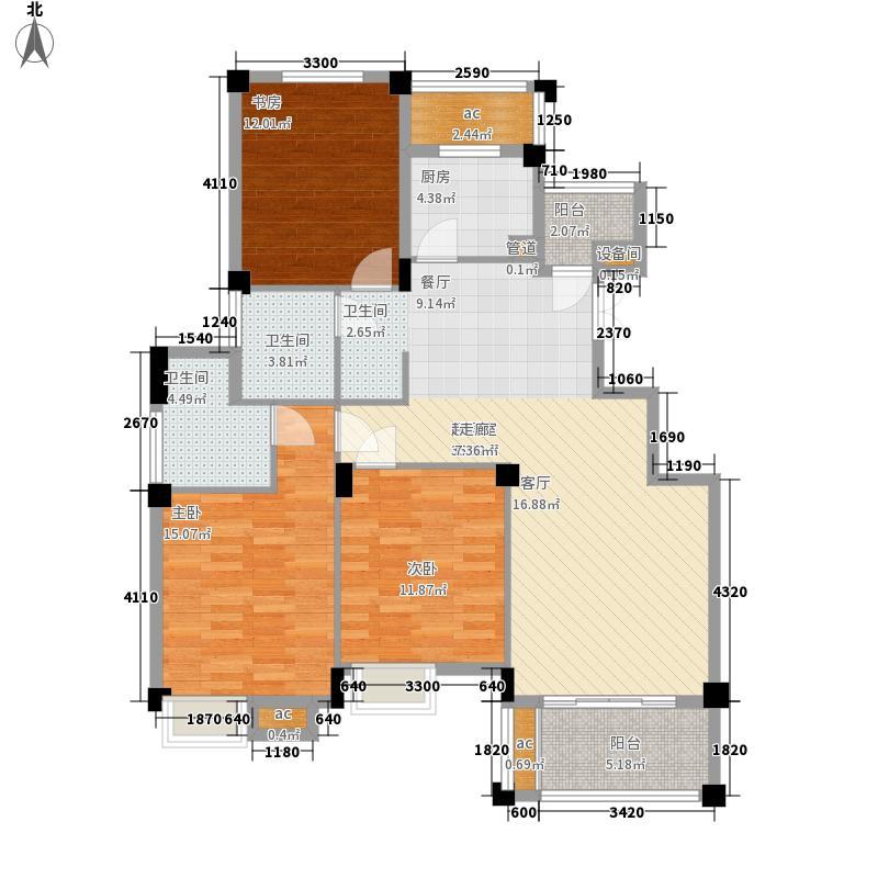 香树湾114.00㎡J户型3室2厅