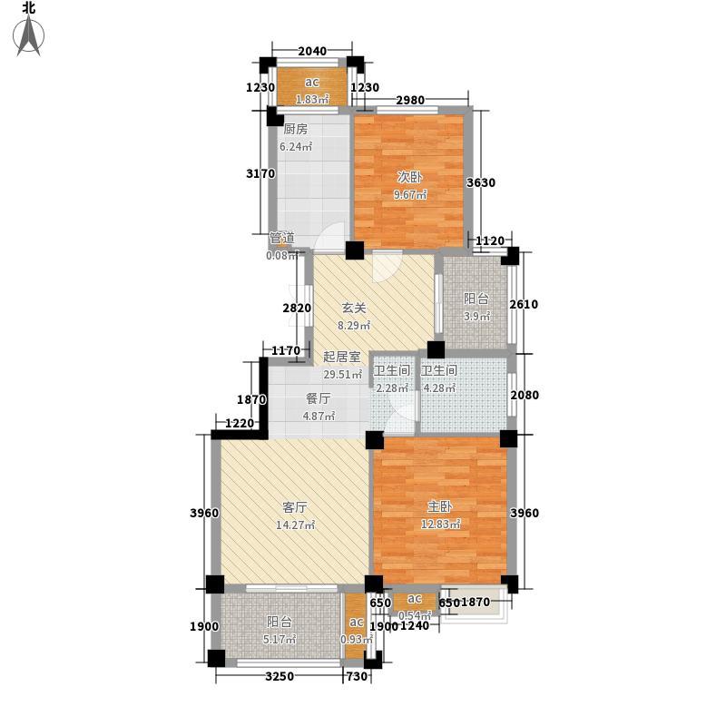 香树湾85.00㎡K户型2室2厅