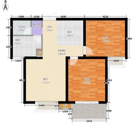 西市佳园2室0厅1卫1厨89.00㎡户型图