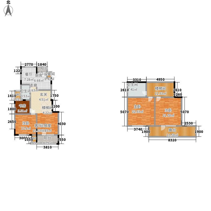 招商兰溪谷118.00㎡H户型3室2厅