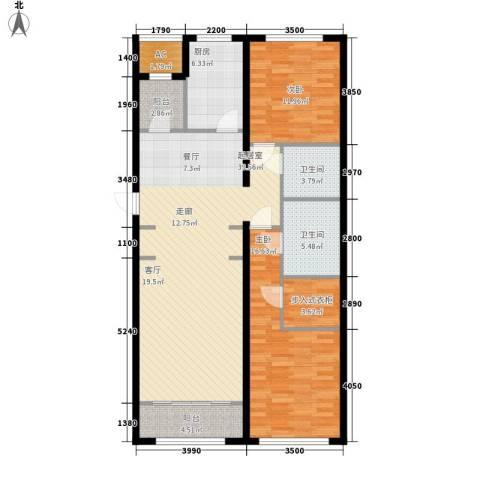 伊泰CEO国际中心2室0厅2卫1厨130.00㎡户型图