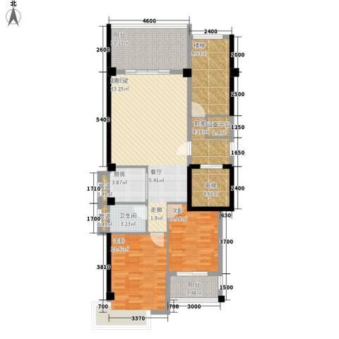 凯悦华庭2室0厅1卫1厨94.27㎡户型图