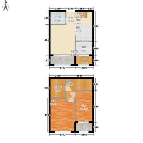 伊泰CEO国际中心2室0厅2卫1厨116.00㎡户型图