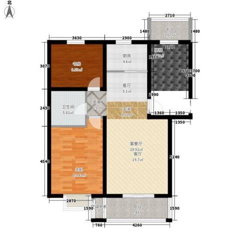 虹凌阁2室1厅1卫1厨80.00㎡户型图
