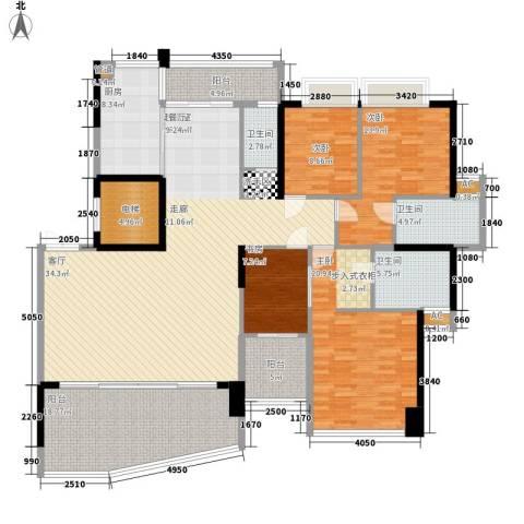 帝�东方4室0厅3卫1厨194.00㎡户型图