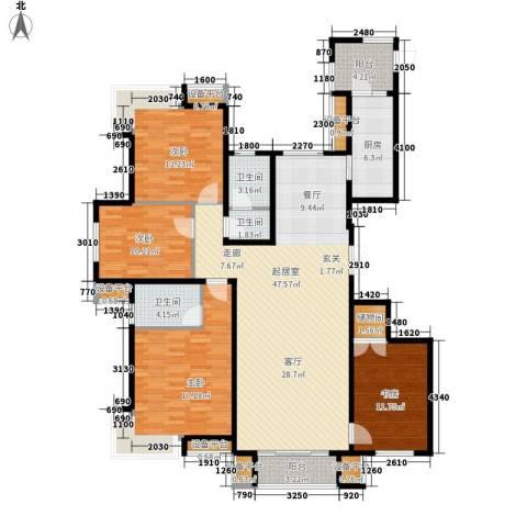 乐嘉花园4室0厅3卫1厨127.85㎡户型图