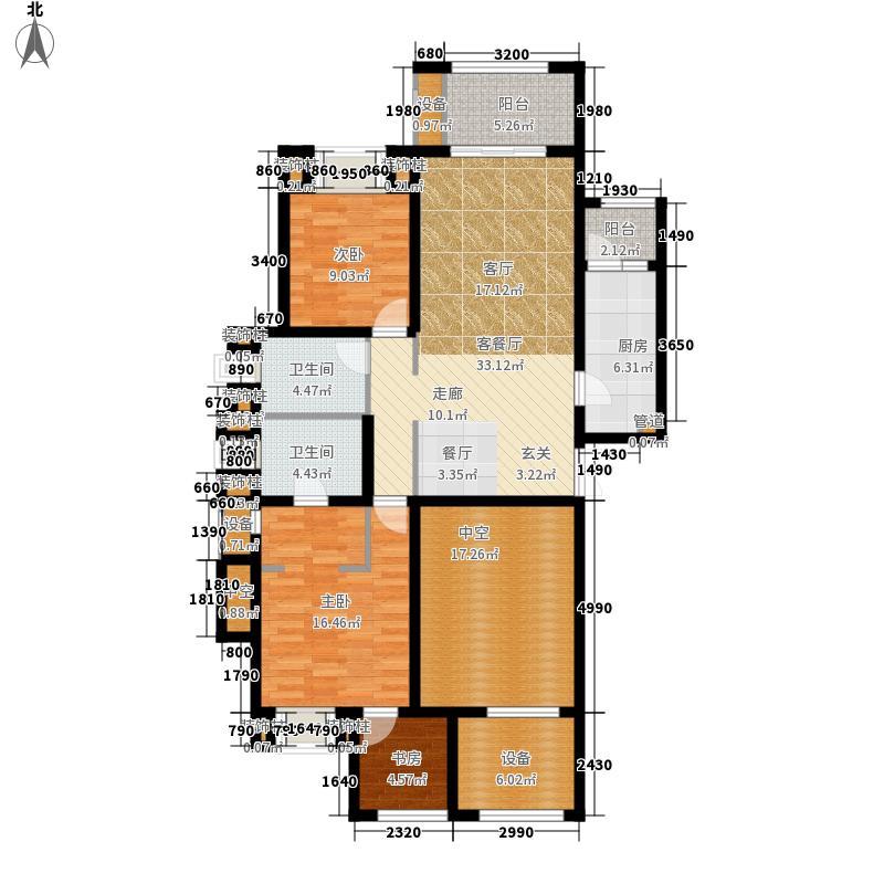 龙湖两江新宸一期洋房A3-1户型3室2厅