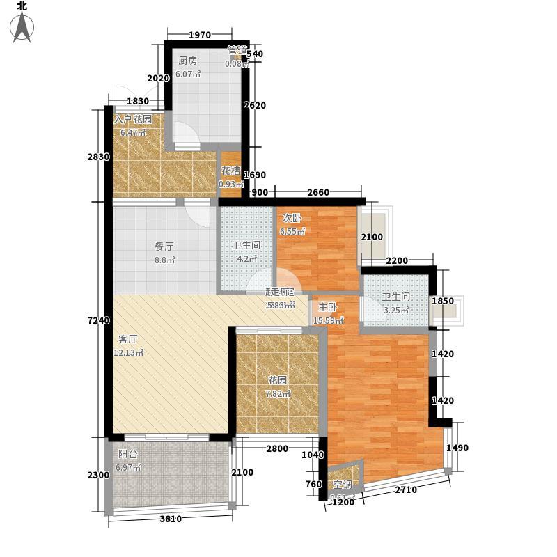 广州雅居乐花园新地99.00㎡广州雅居乐花园・新地E型面积9900m户型
