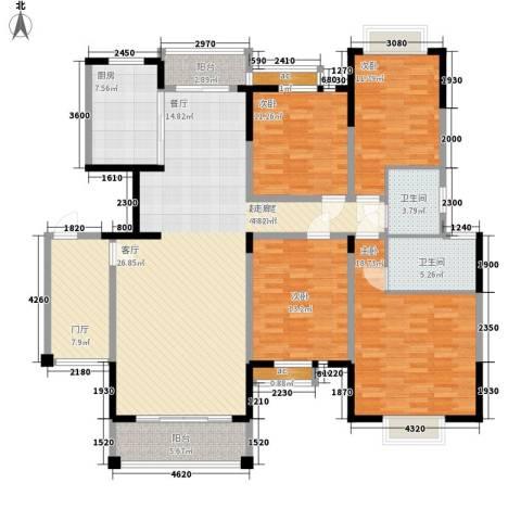 锦林山庄4室0厅2卫1厨155.00㎡户型图