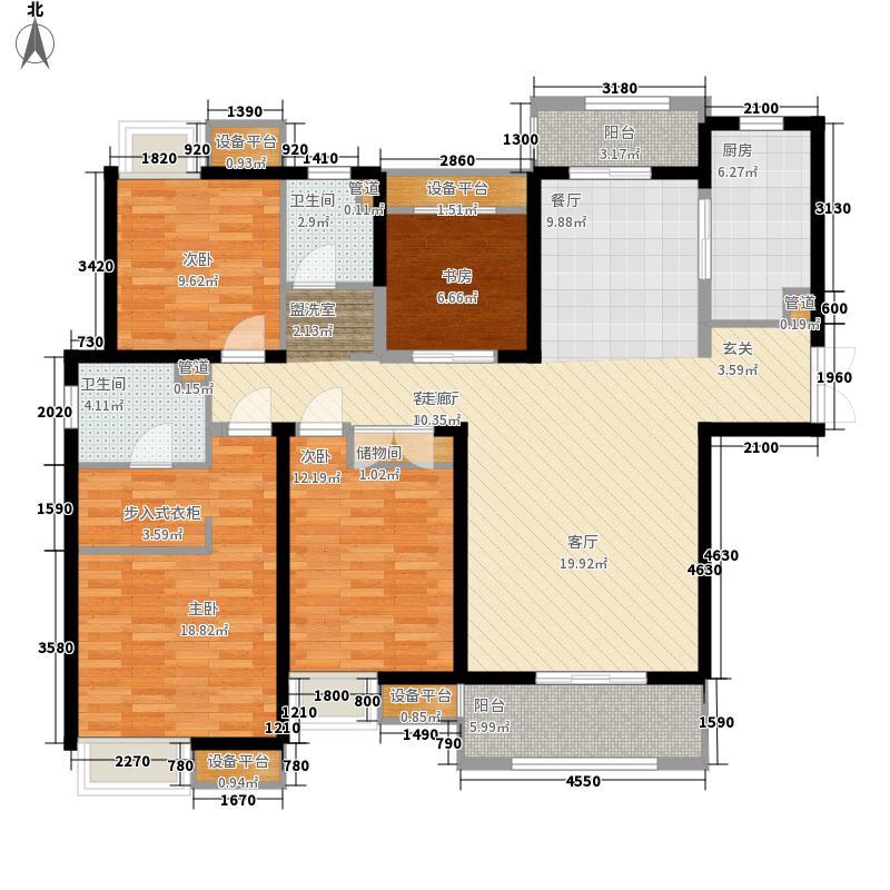 太湖国际社区155.00㎡拾壹峯S1户型3室2厅