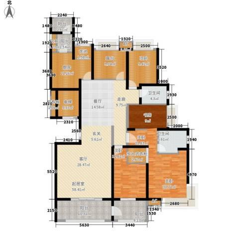 南山湖1号3室0厅2卫1厨201.00㎡户型图