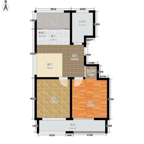 凯旋国际花园2室1厅1卫1厨97.00㎡户型图