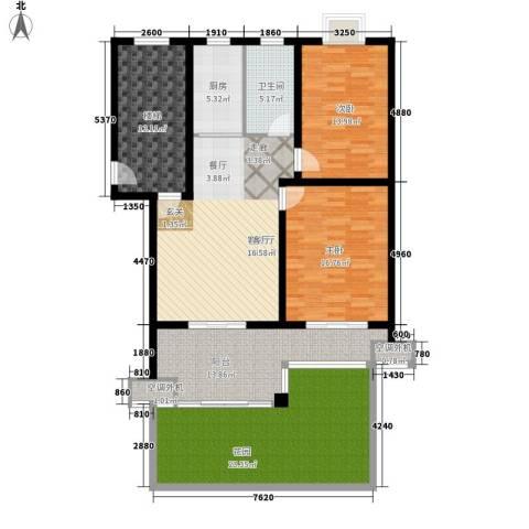 东林锦峰苑2室1厅1卫1厨117.65㎡户型图