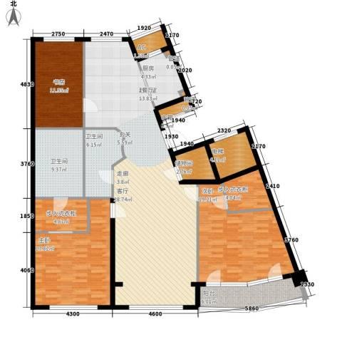 伊泰CEO国际中心3室0厅2卫1厨204.00㎡户型图