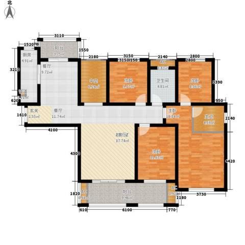 御品世家4室0厅1卫1厨146.00㎡户型图