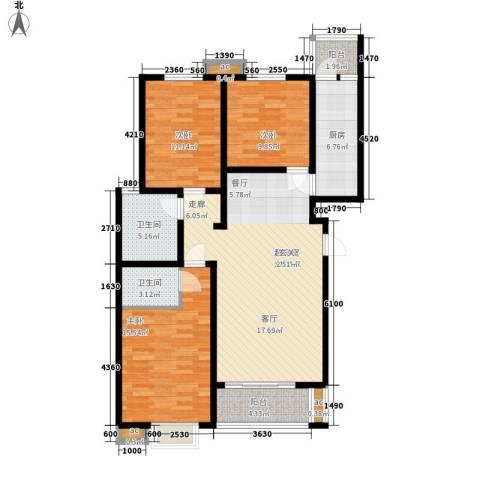 盛景八方3室0厅2卫1厨131.00㎡户型图