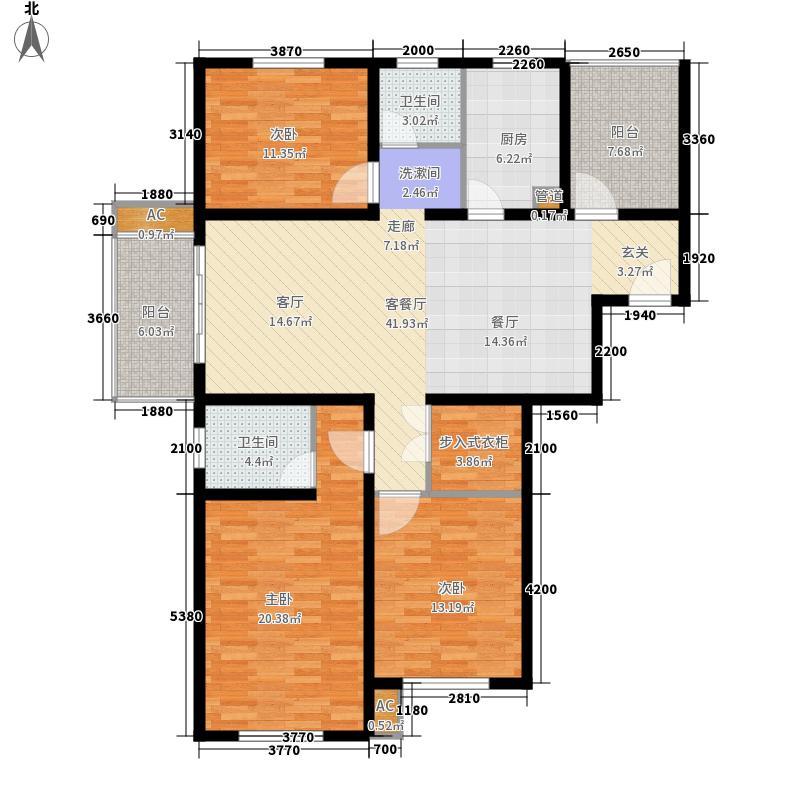 同济家园同济家园136平米三房二厅二卫户型