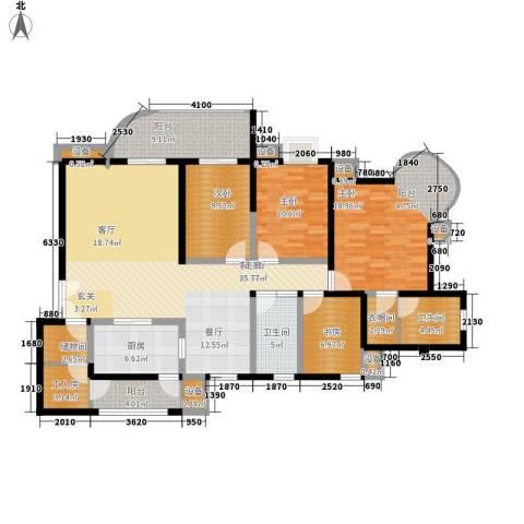 帝景名苑4室1厅2卫1厨158.00㎡户型图