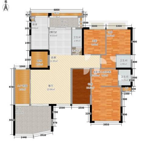 帝�东方4室0厅3卫1厨170.00㎡户型图
