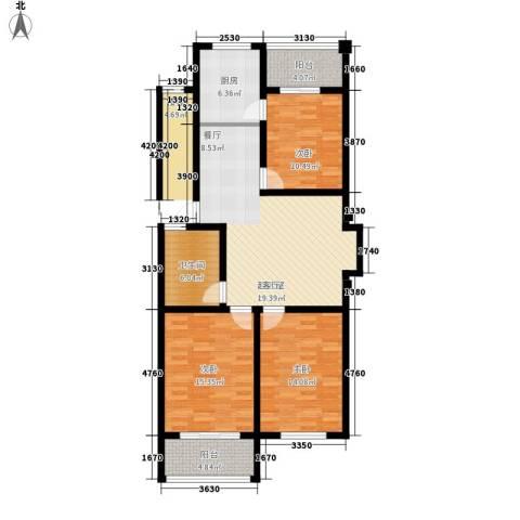 缇香园3室0厅1卫1厨100.00㎡户型图