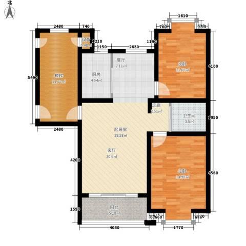 时代天骄2室0厅1卫1厨93.00㎡户型图