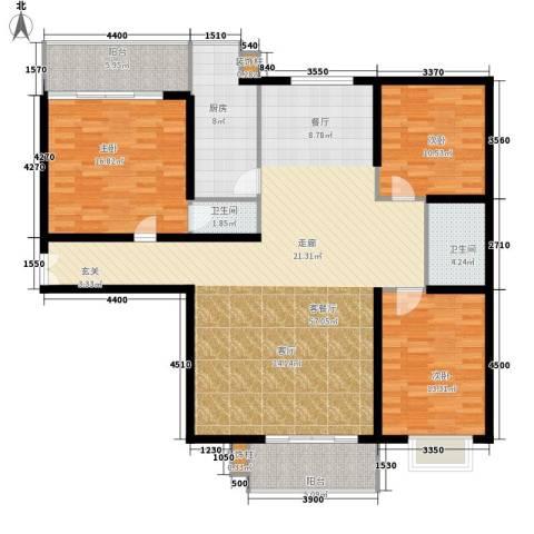 新康花园3室1厅2卫1厨172.00㎡户型图