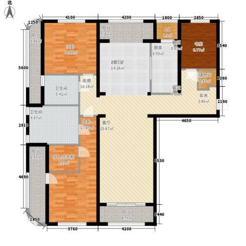 伊泰CEO国际中心3室0厅2卫1厨180.00㎡户型图