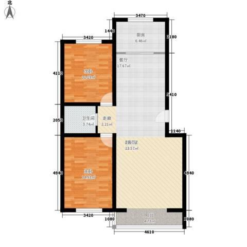 瑞欣小区2室0厅1卫1厨115.00㎡户型图