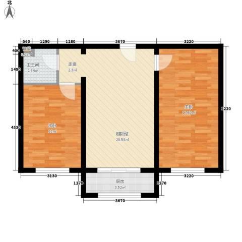 瑞欣小区2室0厅1卫1厨84.00㎡户型图