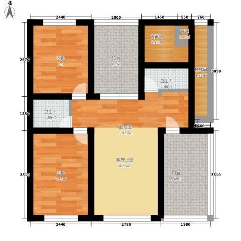 瑞欣小区2室0厅2卫0厨70.00㎡户型图