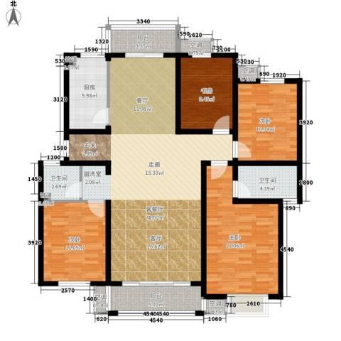 金宸花园4室1厅2卫1厨137.00㎡户型图