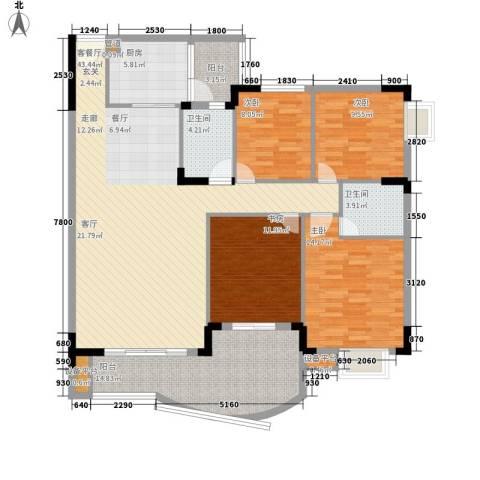 尚阳康城4室1厅2卫1厨121.00㎡户型图